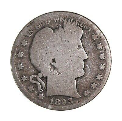 1893-O Barber Silver Half Dollar VG Uncertified