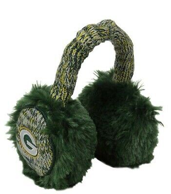 Green Bay Packers FOCO NFL Unisex Team Logo Furry Knit Earmuffs