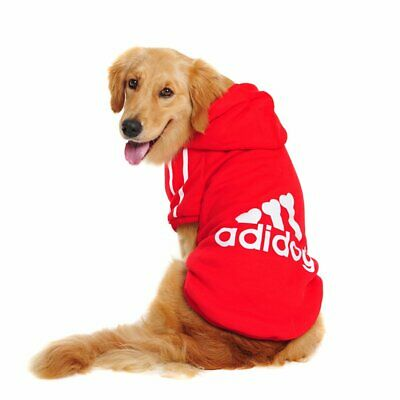 Winter Casual Adidog Pets Dog Clothes Warm Hoodie Jacket For Dogs - 9XL - Red