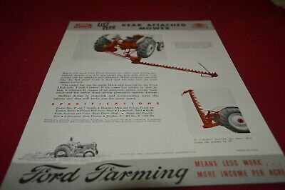 Ford Tractor Dearborn Rear Attached Mower For 1947 Dealers Brochure AMIL15