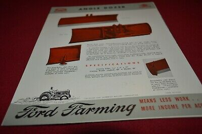 Ford Tractor Dearborn Angle Dozer For 1947 Dealers Brochure AMIL15