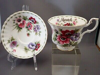 Royal Albert Bone China Flower of the Month Series March Anemones