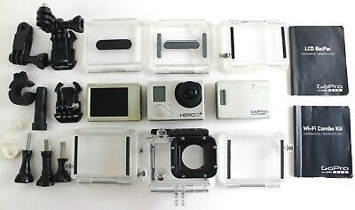 GoPro HERO3+ Silver Edition With Screen, Battery Pack, Casings & More