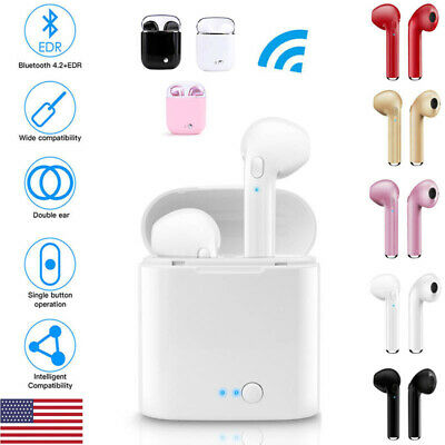 Dual Wireless bluetooth Earphone Earbuds For Android IOS Universal Phone Models