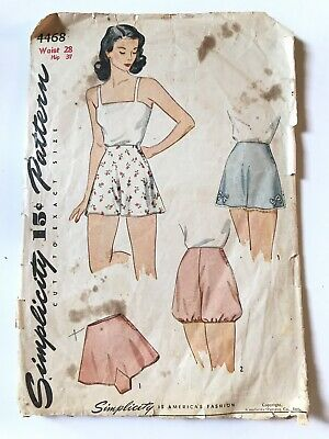 VINTAGE Original SIMPLICITY Sewing Pattern 40s 50s PANTIES BLOOMERS TAP PANTS