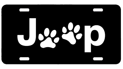 Jeep Premium Aluminium Metal License Plate Tag Custom Made For Car L4