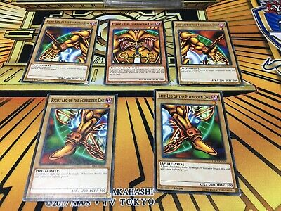 Yugioh Exodia The Forbidden One 1st Edition Lightly Played Complete Set LDK2