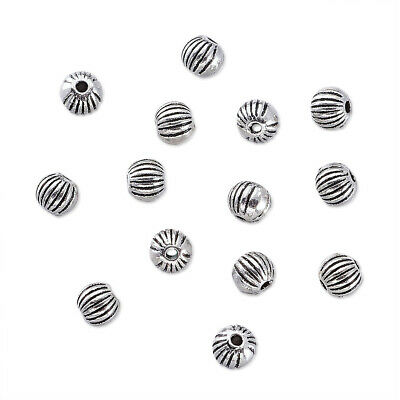 100pcs Tibetan  Silver Alloy Round Beads Lead Free Metal Beads Spacer Craft 4mm