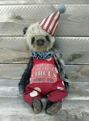 Handcrafted Teddy Bear-Old Style Teddy Bear-Clown bear-Circus bear