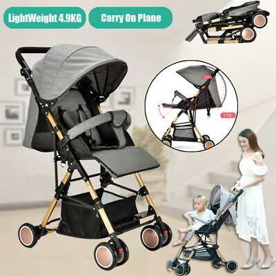 Foldable Baby Stroller Pram Compact Lightweight Pushchair Carry-on Plane Travel