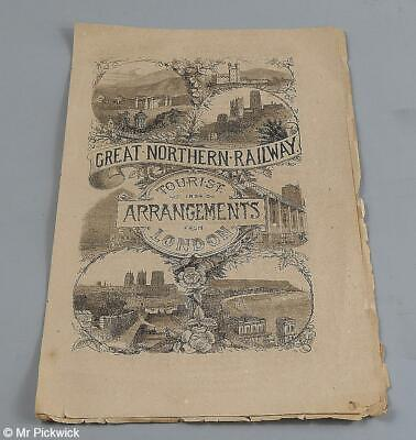Great Northern Railway Tourist Arrangements from London 1884 with map
