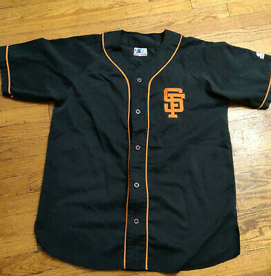 new arrival 607c4 9020e VTG 90S STARTER San Francisco Giants Baseball Jersey Shirt Button Up Adult  LARGE