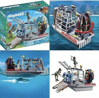 for Kids 4 and up Playmobil Dinos Enemy Airboat with Raptors 9433