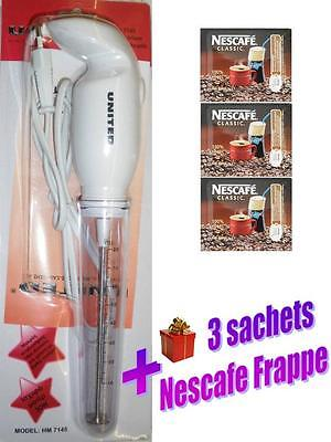 Greek Nescafe Frappe Electric Hand Held Mixer Frothel New Model United 30W
