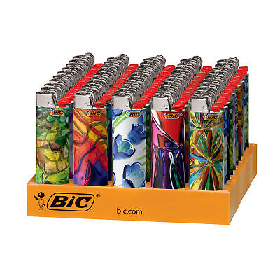BIC Special Edition Blown Glass Series Lighters, 50-Count Tray