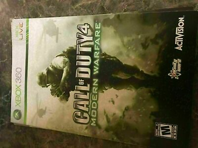 Call Of Duty 4 Modern Warfare - Xbox 360 - Instruction Manual Only