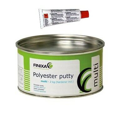Mastic polyester multi 2kg + durcisseur Finixa Polyester putty MULTI + hardener