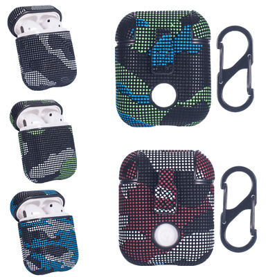 For Apple Airpods 1st 2nd Camouflage Colors Case Earphone Protective PC Cover