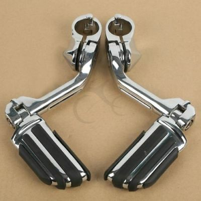 "Engine Guard Highway Foot Pegs For Harley Road King Street Glide 1.25"" 32mm Bars"