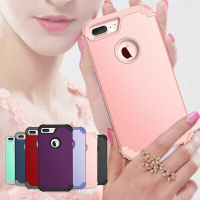 Shockproof Protective Rubber Bumper Case Cover For Apple iPhone 6 6S 7 8 Plus