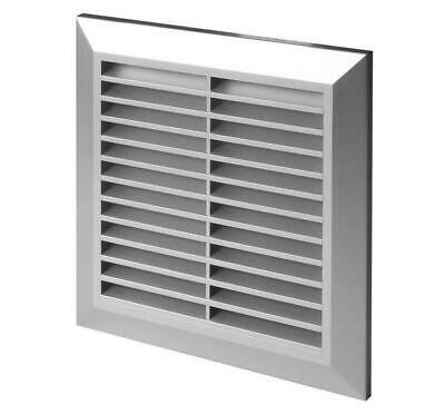 Satin Air Vent Grille 170mm x 170mm with 125mm Flange and Fly Screen