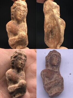 Ancient Gandhara Empire Teracota Buddaha Fiqure fragment 2nd - 1st mil BC #A4