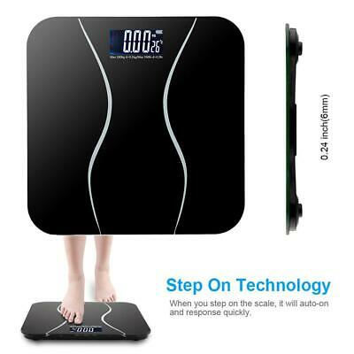 400lb Backlit LCD Digital Bathroom Body Weight Scale Lb/Kg/st with 2x Battery