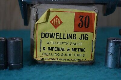 Vintage Silex Tools # 30 Dowelling Jig Imperial & Metric Drillig Guides Old Tool