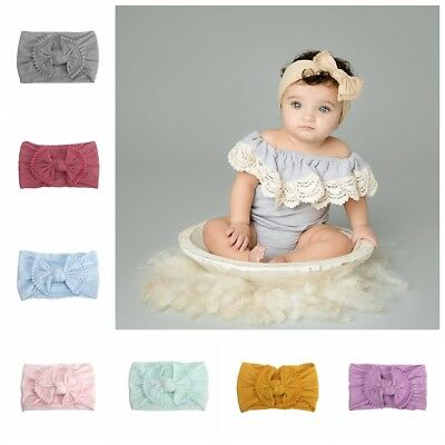 newborn hair band fille turban arc noeud bébé nylon bandeau ruban élastique