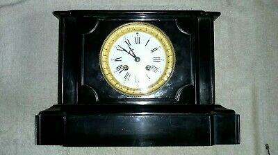 Antique French Slate/Marble Mantle Clock in fantastic working condition c1879