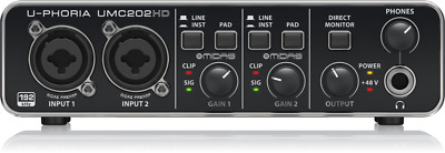 Behringer UMC202HD 2x2 USB Audio Interface with Midas Designed Preamp