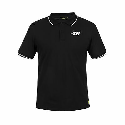 2019 Valentino Rossi VR46 Core Mens Polo Shirt BLACK T-Shirt Tee Sizes XS-XXL