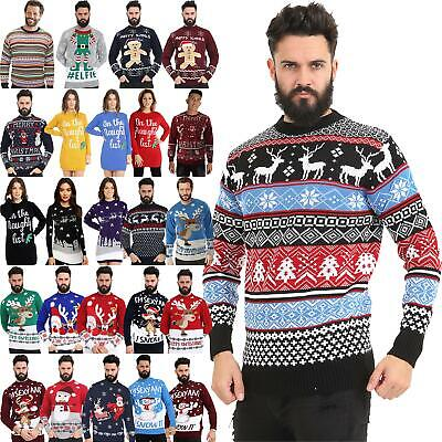 Men Women Santa Xmas Christmas Novelty Fairisle Retro Jumper Sweater 2019 Design