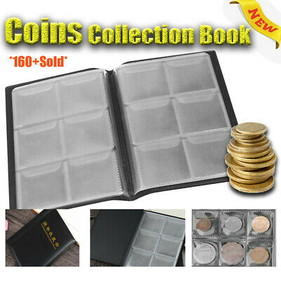 10 Pages 60 Pockets Album Silver Dollar Coins Collection Book Organizer