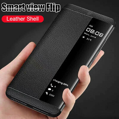 Smart Clear View Leather Flip Case Cover For Samsung Galaxy S9 S8 Plus Note 9 8