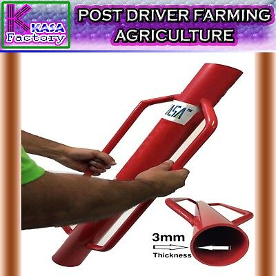 Post Driver Farm Fence Hammer Post Steel Star Picket Farming Agriculture 800mm