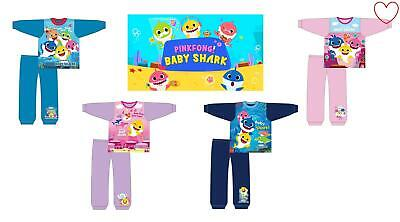 Girls Boys Official Pingfong Baby Shark Doo Long Pyjamas