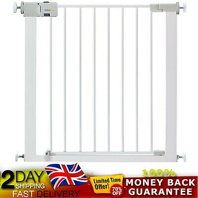 Safety 1st Secure Tech Simply Close Metal Baby/Child Stair Gate Pet Gate - WHITE