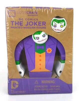 DC Comics The Joker | Painted Wooden Figure | Lootcrate Exclusive | Brand New