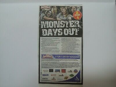 Two 2 FOR 1  Entry Vouchers To Alton Towers Thorpe Park Legoland and Many More