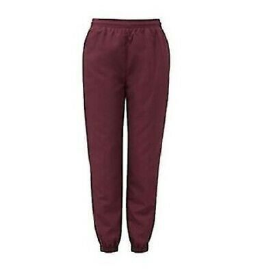 School PE Fleece winter Jogging Bottoms Trousers, COLOR MAROON