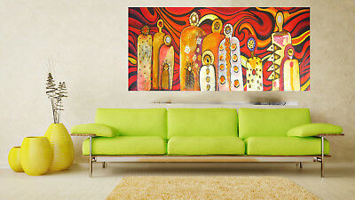 Painting Canvas by jane crawford MIMI GODS OF FIRE Artwork print  original