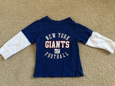 Boys Toddler Boy NY Giants Football T- Shirt 3T