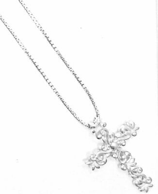 """Outstanding """"Cross"""" Pendant on 24 inch Sterling Silver Box Chain"""