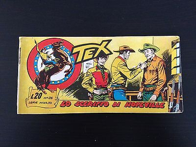 Tex Stripes Serie Navajo N.26 Lo Sheriff Di Hopeville - Mint Condition