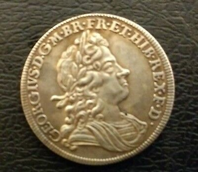 Nice Rare George I 1720 Roses & Plumes Halfcrown In Ext Fine