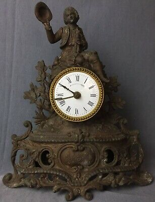 Antique French Louis Mantle Clock - Circa 1850 Signed. For Restoration.