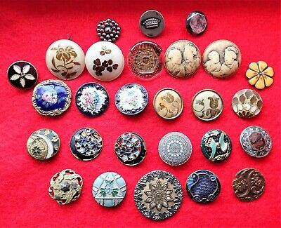 A Collection of 27 Antique 18th 19th & Early 20th Century Buttons.