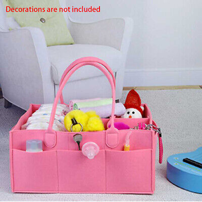 Baby Diaper Caddy Organiser Nappy Mummy Changing Bag Bottle Storage Handbag