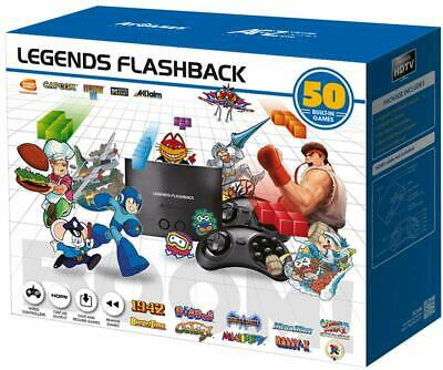 Legends Flashback Deluxe Game Console with SD Card - 50 Games box damage (13c)